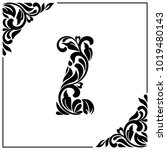 the letter z. decorative font... | Shutterstock .eps vector #1019480143