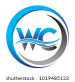 initial letter logo wc company... | Shutterstock .eps vector #1019485123