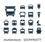 truck icon. collection of... | Shutterstock .eps vector #1019496577