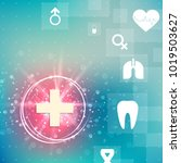 health technology vector blue...   Shutterstock .eps vector #1019503627
