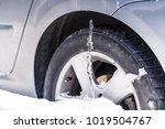 winter driving problems  snow... | Shutterstock . vector #1019504767