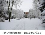 winter landscape with snow   Shutterstock . vector #1019507113