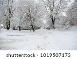 winter landscape with snow   Shutterstock . vector #1019507173