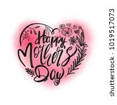 mothers day typographical... | Shutterstock .eps vector #1019517073