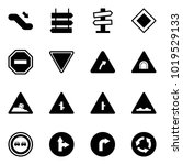 solid vector icon set  ... | Shutterstock .eps vector #1019529133