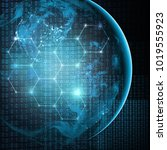 earth from space. best internet ... | Shutterstock . vector #1019555923