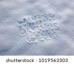 winter olympic games   writing... | Shutterstock . vector #1019563303