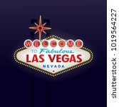 welcome to fabulous las vegas... | Shutterstock .eps vector #1019564227