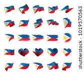 philippines flag  vector... | Shutterstock .eps vector #1019570563