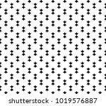 black and white geometric... | Shutterstock .eps vector #1019576887