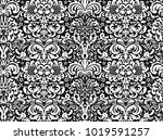 seamless white ornament on a... | Shutterstock .eps vector #1019591257