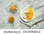 healthy light breakfast ... | Shutterstock . vector #1019598013