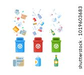 plastic containers for... | Shutterstock .eps vector #1019603683