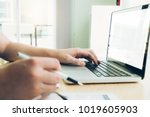 young startup businessman hands ...   Shutterstock . vector #1019605903