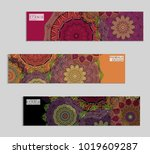 ethnic banners template with... | Shutterstock .eps vector #1019609287