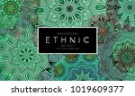 ethnic banners template with... | Shutterstock .eps vector #1019609377