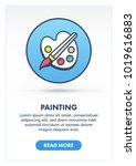 painting concept banner... | Shutterstock .eps vector #1019616883