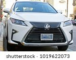 Small photo of PASADENA/CALIFORNIA - JAN. 7, 2018: Late model Lexus crossover utility vehicle parked on the boulevard. Pasadena, California USA