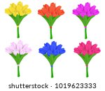 bouquets of spring tulips... | Shutterstock .eps vector #1019623333