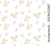 fashionable pattern in small... | Shutterstock . vector #1019623387