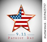 patriot day 9.11 digital sign... | Shutterstock .eps vector #1019625757