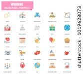 simple set of wedding related... | Shutterstock .eps vector #1019628073