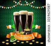saint patricks irish party... | Shutterstock .eps vector #1019629387