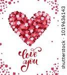 decorative valentine greeting... | Shutterstock .eps vector #1019636143