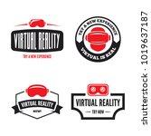isolated vr headset logotype... | Shutterstock .eps vector #1019637187