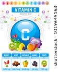 ascorbic acid vitamin c rich... | Shutterstock .eps vector #1019649163