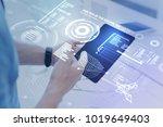 futuristic device. calm... | Shutterstock . vector #1019649403