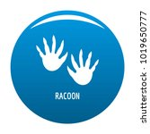 racoon step icon vector blue... | Shutterstock .eps vector #1019650777