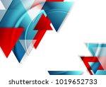 abstract tech geometric... | Shutterstock .eps vector #1019652733