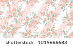 beautiful geometric flowers... | Shutterstock .eps vector #1019666683