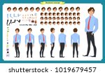 people character business set.... | Shutterstock .eps vector #1019679457