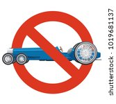 prohibition of overly long car. ... | Shutterstock .eps vector #1019681137