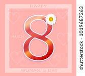 international women s day.... | Shutterstock .eps vector #1019687263