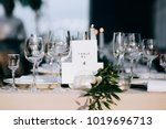 a very nicely decorated wedding ... | Shutterstock . vector #1019696713