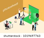 movie set  photoshoot with... | Shutterstock .eps vector #1019697763