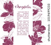 floral background. hand drawn... | Shutterstock .eps vector #1019699233