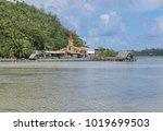 huahine island church and... | Shutterstock . vector #1019699503