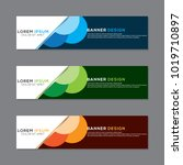 modern banner background vector ... | Shutterstock .eps vector #1019710897