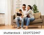 family  technology  parenthood... | Shutterstock . vector #1019722447
