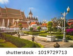grand palace complex in bangkok ... | Shutterstock . vector #1019729713