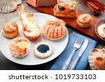 a delicious fresh specialties... | Shutterstock . vector #1019733103