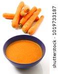 exquisite traditional carrots... | Shutterstock . vector #1019733187