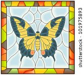 Vector Of Butterfly Yellow...