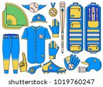 set of baseball and softball... | Shutterstock .eps vector #1019760247