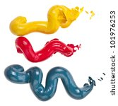 colorful oil paint  wavy coming ... | Shutterstock . vector #101976253