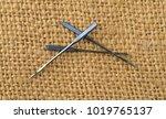 three heavy duty denim sewing... | Shutterstock . vector #1019765137